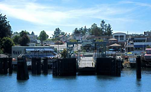 Washington State Ferry Dock, Town of Friday Harbor on beautiful San Juan Island